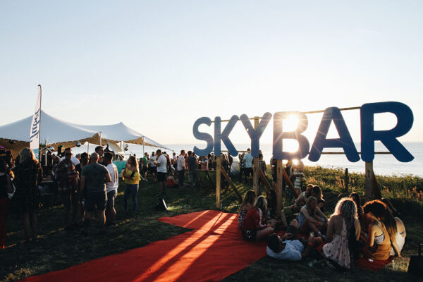 A photograph of Sky Bar's opening night at Croyde in Devon 2017